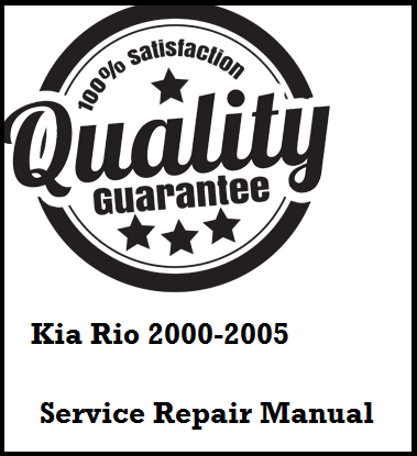 Kia Rio 2000 2001 2002 2003 2004 2005 This a complete
