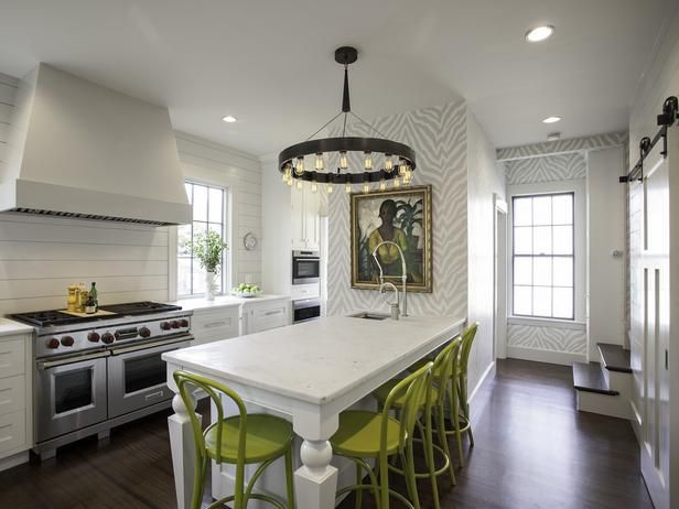 I Love The Chairs That Pop And The Stairs That Come Down Into The Kitchen  White · Zebra WallpaperWallpaper IdeasAnimal ...