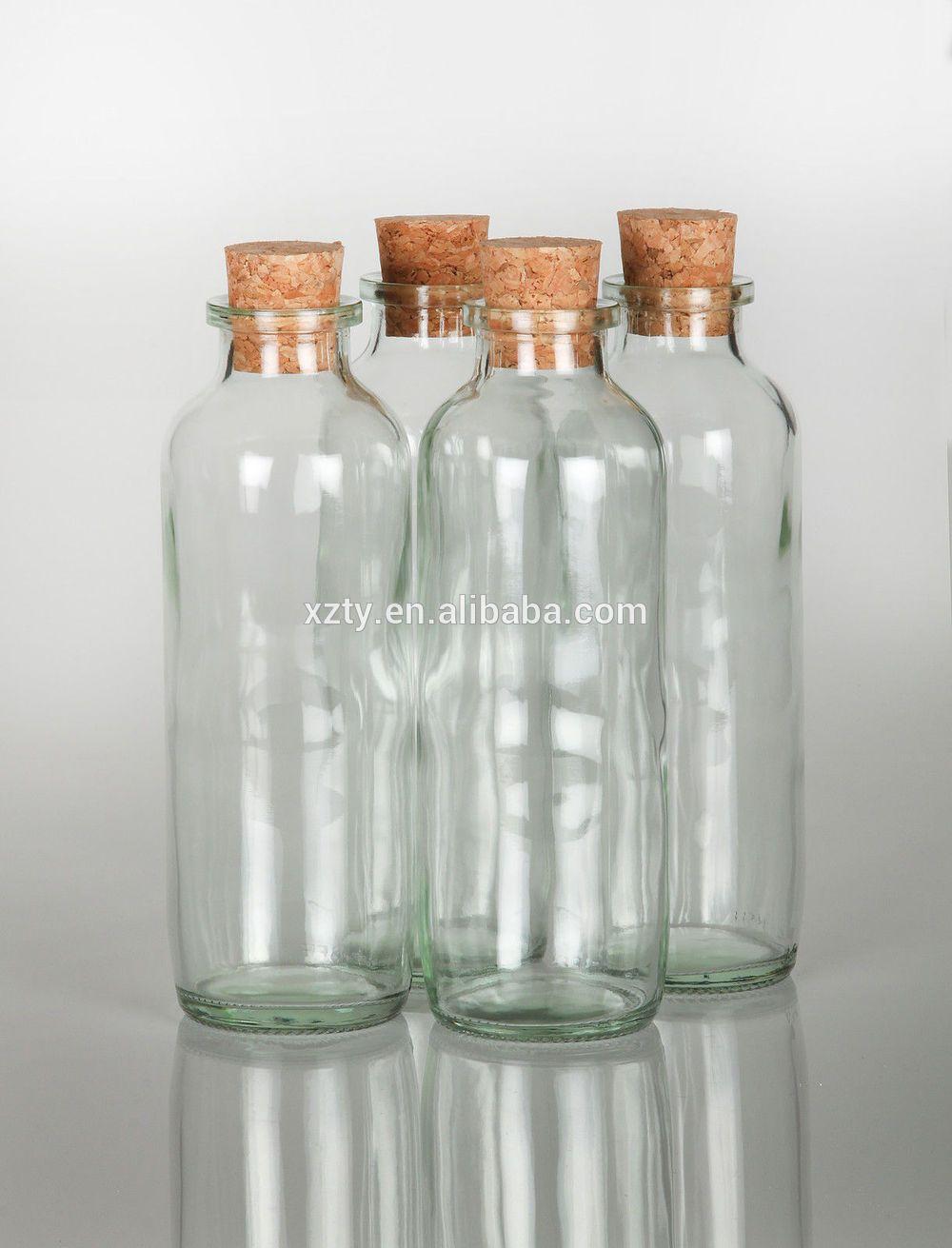 16oz Glass Cork Stopper Spice Oil Herb Storage Bottles Pots Jars
