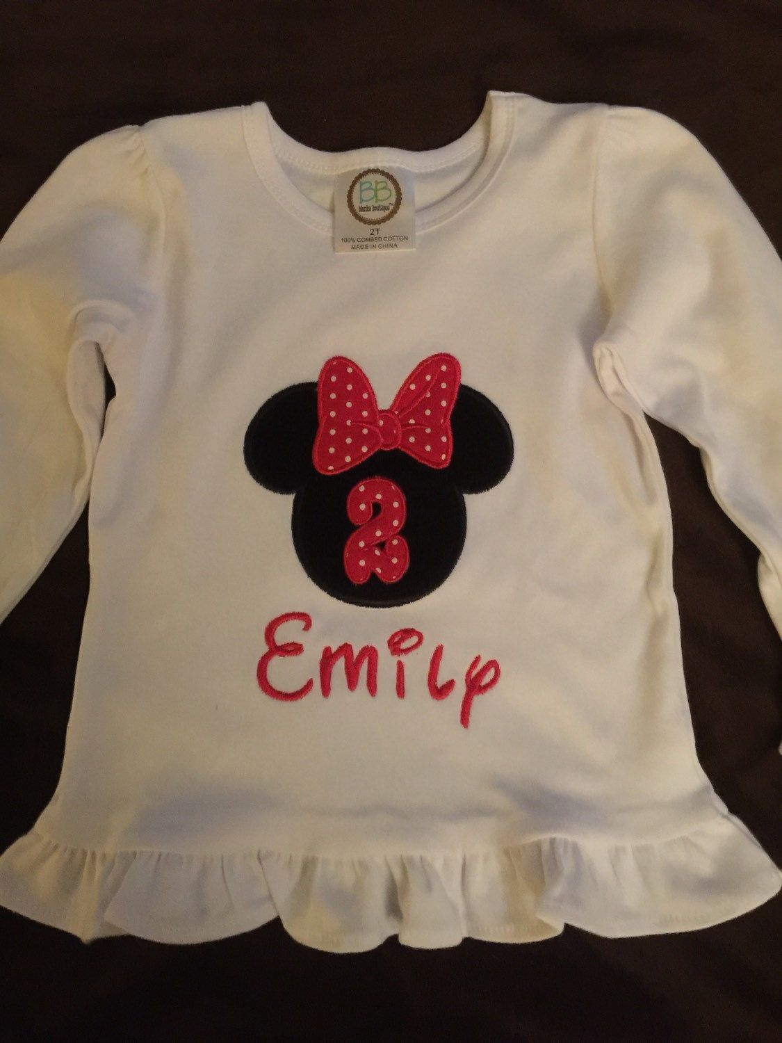 Girls Custom Made Shirts Birthday Childs Appliqued Shirt Personalized By