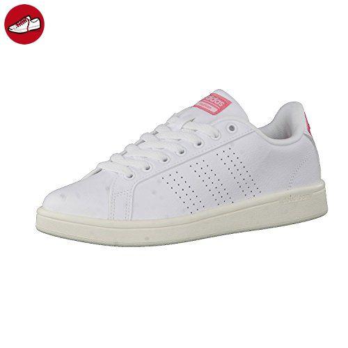 9726ded5168926 adidas NEO Damen Sneaker Cloudfoam Advantage Clean Ftwr White Ftwr  White Ray Pink F16