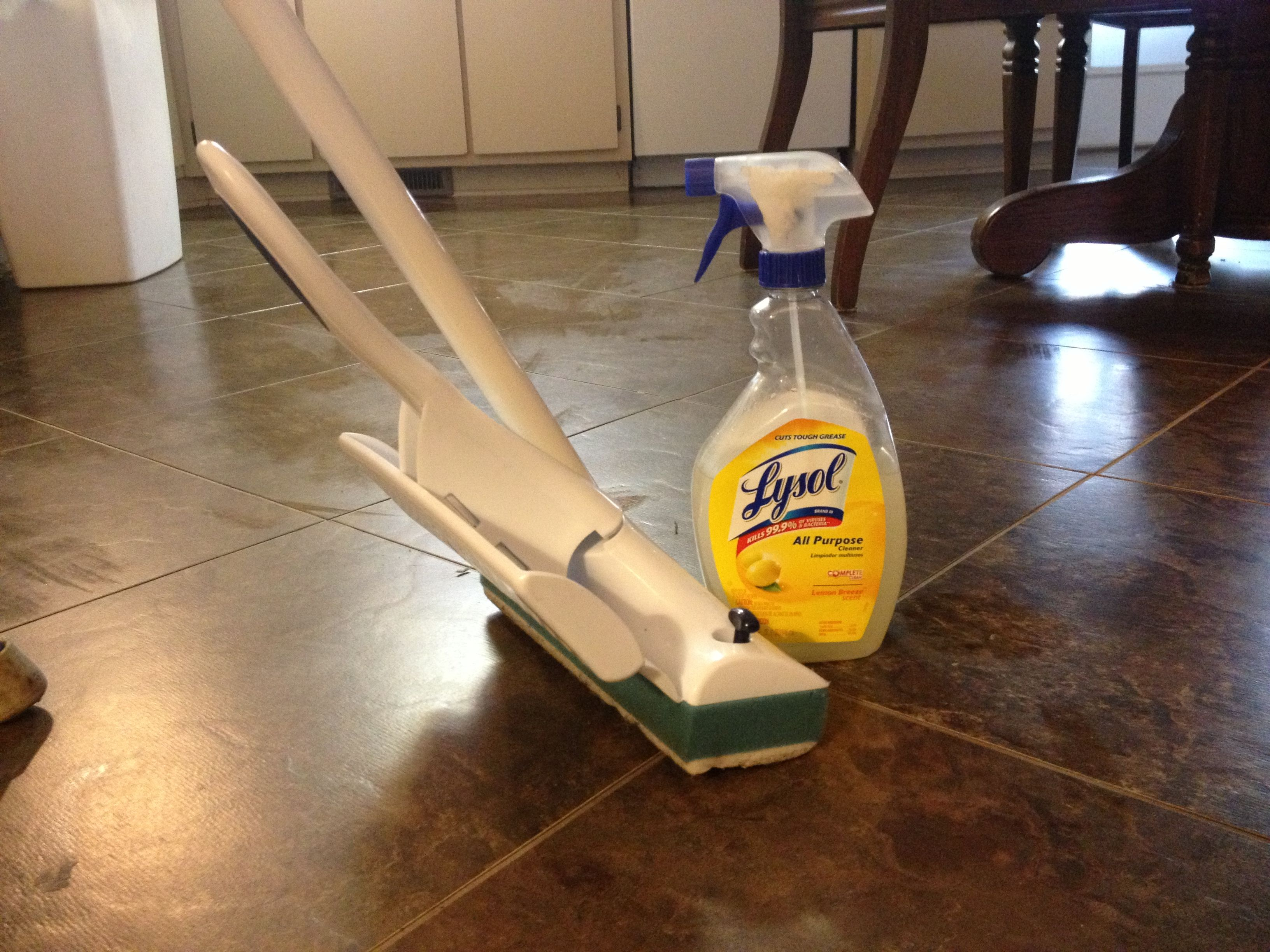 My Swiffer Wet Jet 1 2 Tbsp Pine Sol In A 1 Qt Spray
