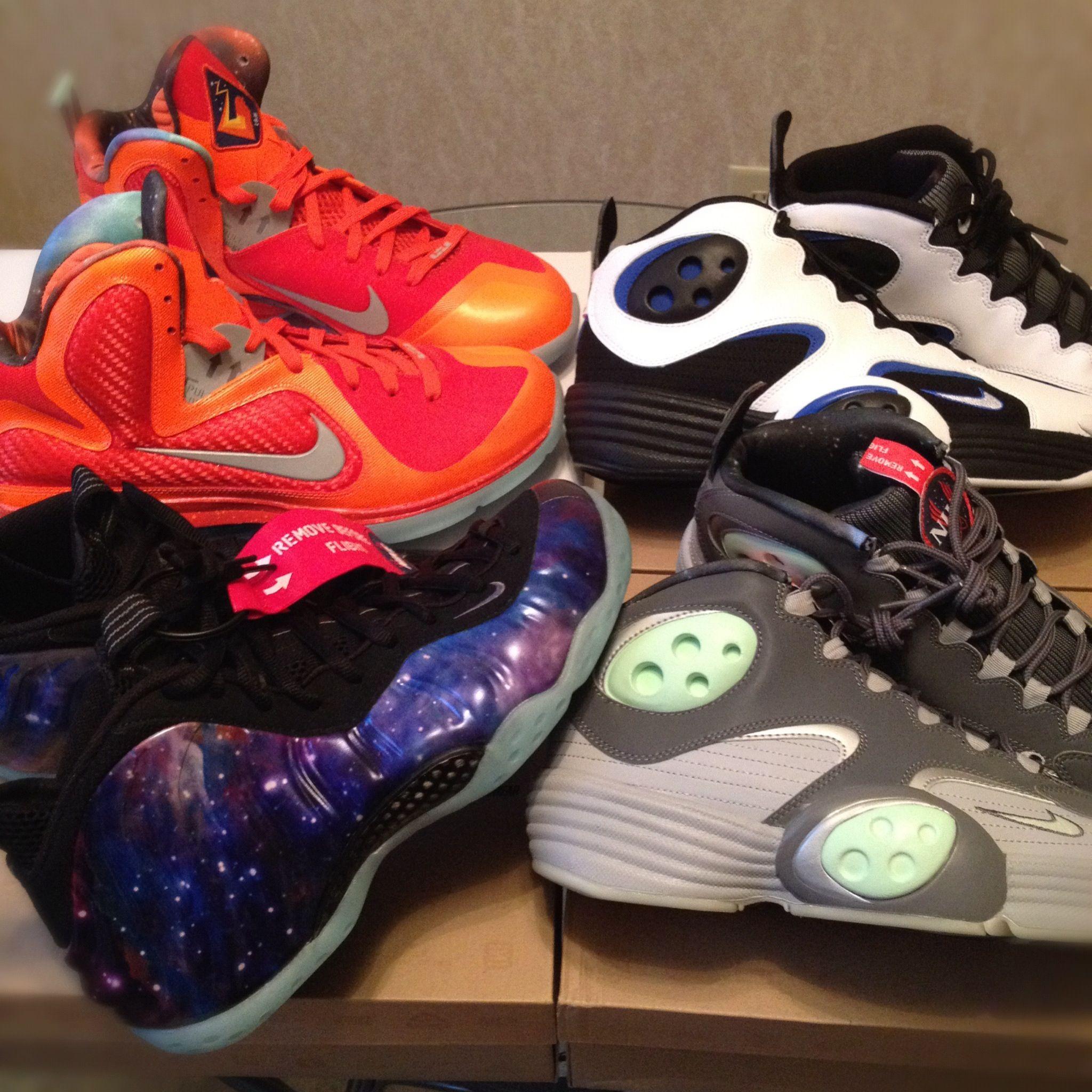 Dar caridad Vacío  Galaxy Pack, nike, kobe, lebron, foamposite, penny, air penny 1, zoom, nike  air, big bangs, galaxy rookies, pros, tigerwoods, 2 chai… | Nike galaxy,  Shoes, Sneakers