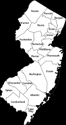 Chester New Jersey Map.New Jersey All The Counties Social Studies New Jersey Jersey