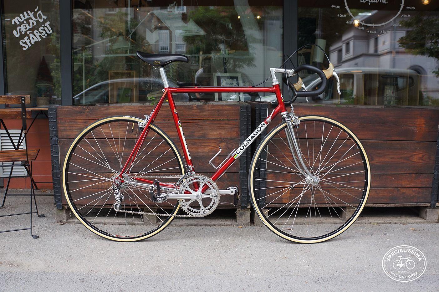 Colnago Super Profil Saronni Red Campagnolo Super Record Titanium Classic Road Bike Road Bike Vintage Beautiful Bike