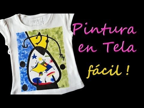 como pintar camisetas facil tutorial como pintar en tela paint on facil
