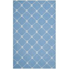 Blue/Ivory Geometric Area Rug