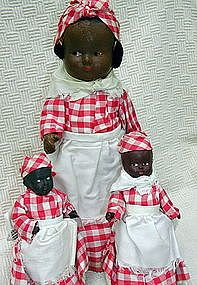 C1930s  Black Americana Dolls - Péssimo exemplo!