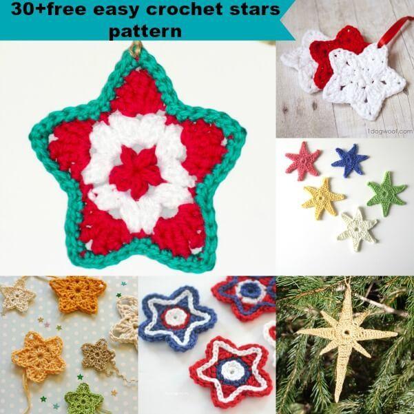 30free Easy Crochet Stars Patterns Crochet Pinterest Crochet