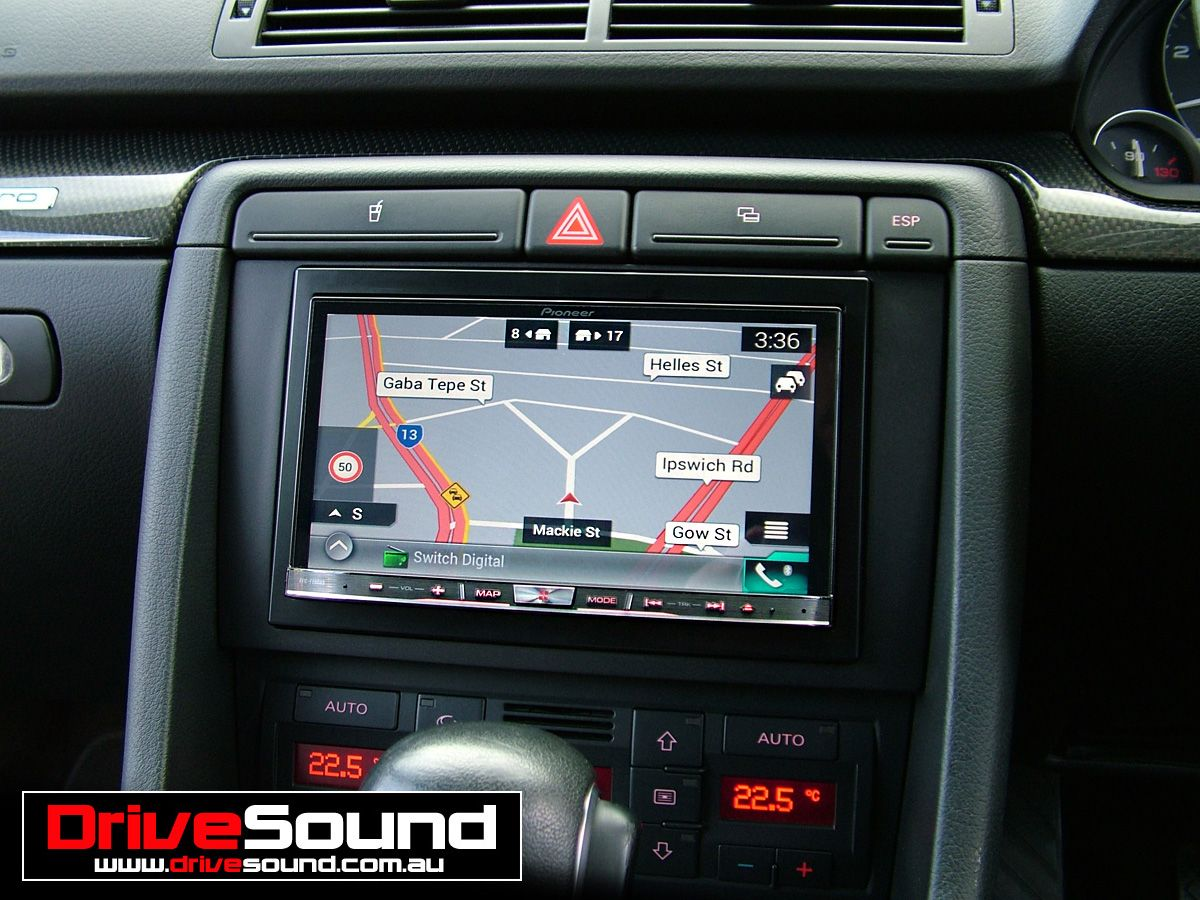 an audi a4 b7 with the pioneer avic f70dab in dash multimedia system installed by drivesound. Black Bedroom Furniture Sets. Home Design Ideas