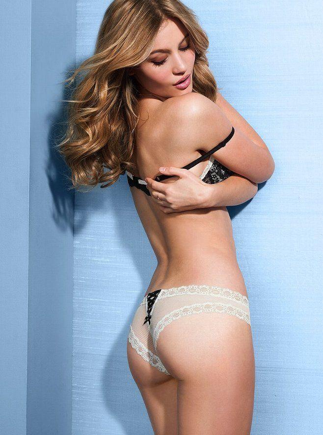 5e6be44b9 Supermodel Caroline Corinth super sexy lingerie show