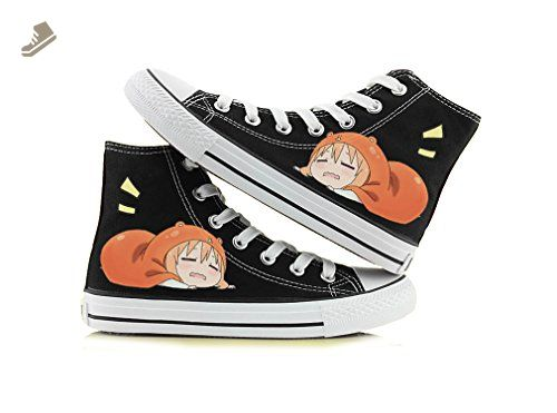 Himouto! Umaru-chan Doma Umaru Cosplay Shoes Canvas Shoes Sneakers Black/White 1