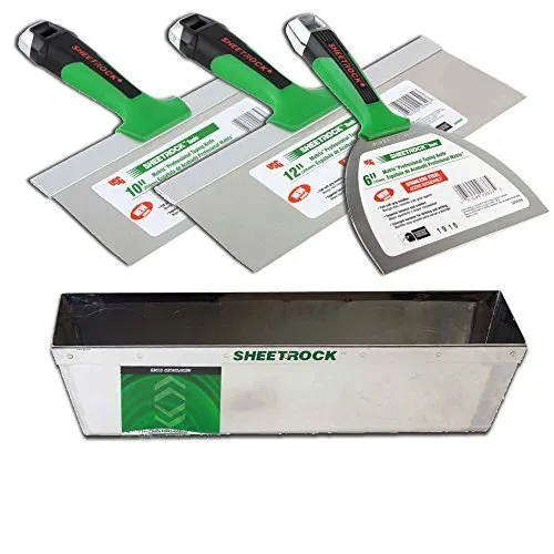 Usg Sheetrock Matrix Stainless Steel Drywall Taping Knife Set Global Knife Set Knife Sets Global Knives