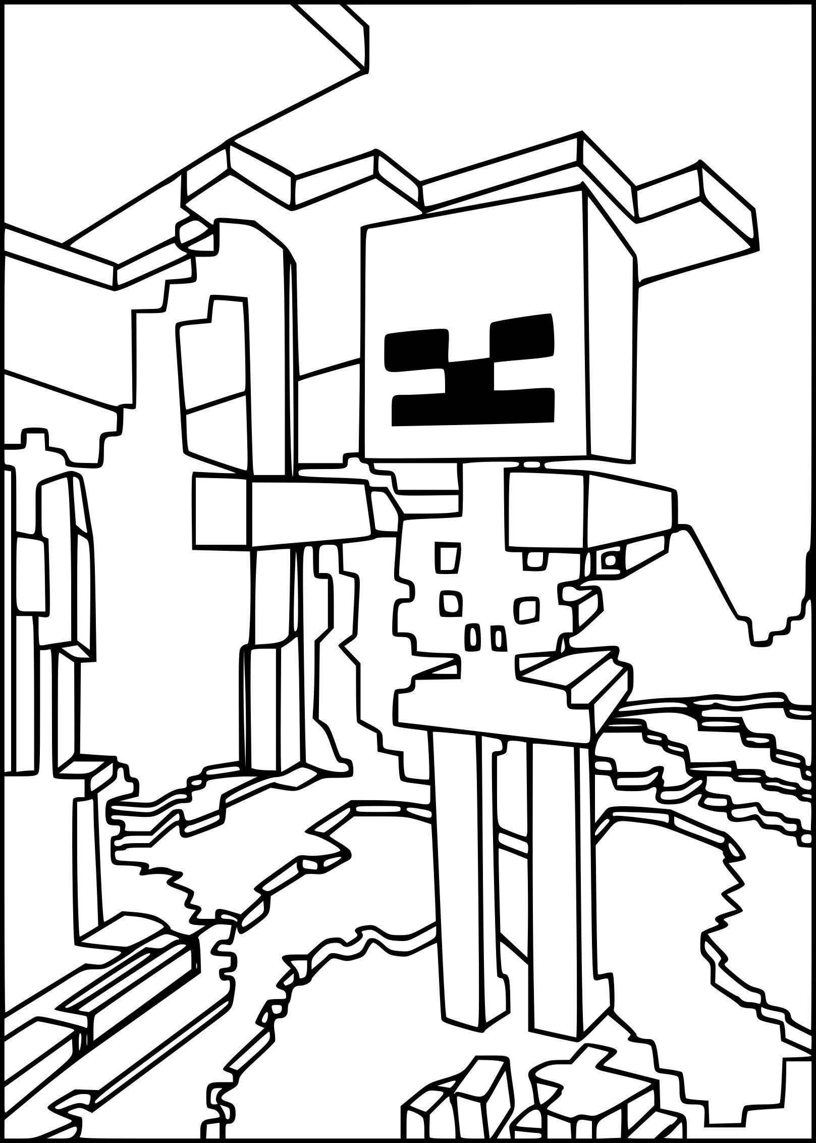 Dessin De Minecraft A Colorier Inspirant Plan Coloriage Squelette Minecraft Imprimer Of Dessin De Minecraft A Colorier Jpg 1617 2264