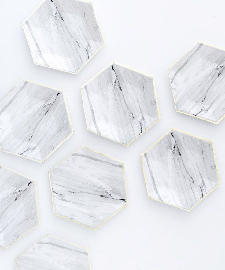 Carrara Marble Party Plates #marbledesign