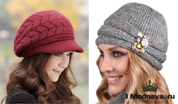 вязаные шапки спицами для женщин после 50 шаловешапкиманишки