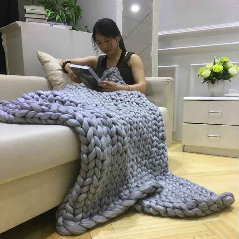 Chunky knitted blanket dealcage products archive