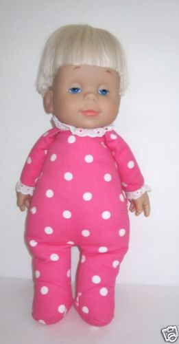 53d130ec86a2 Mattel Drowsy Baby Doll in Pink and White Polka Dot Sleeper..My sister's  fave doll!