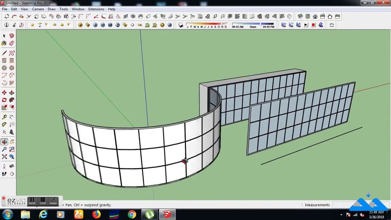 How to create Curved Curtain Wall in google sketchup | Sketchup