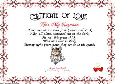Certificate Of Love Certificate  Created With CertificatefunCom