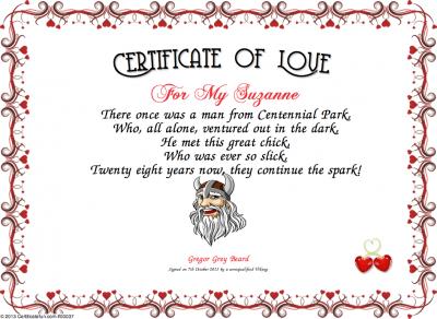 Certificate Of Love Certificate Created With Certificatefun Com