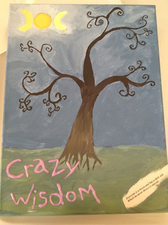 Triple moon tree of life canvas painting  by SethanRay on Etsy, $49.99 12x16