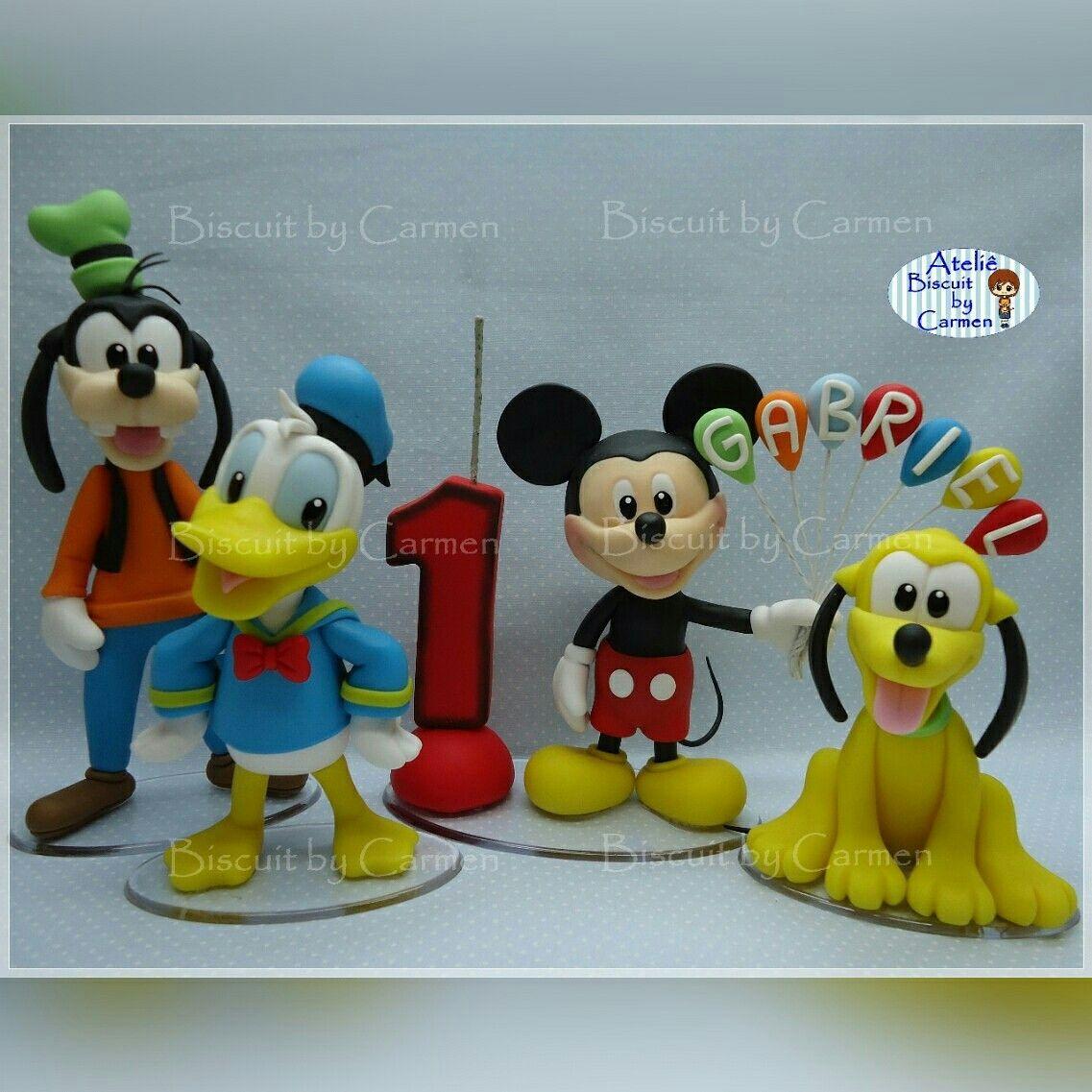 Vela e enfeites de mesa, Turma do Mickey | Meus trabalhos porcelana ...