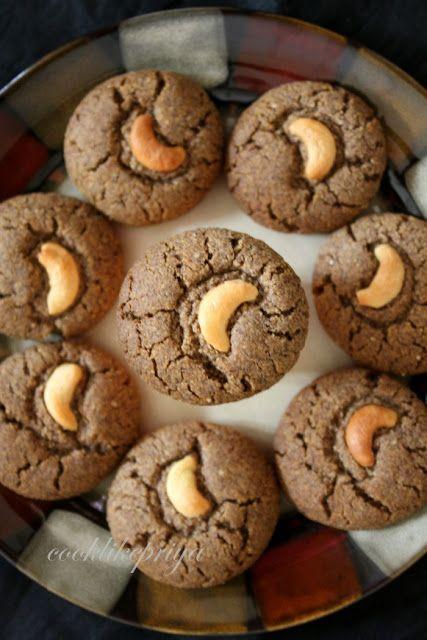 Cook like Priya: Ragi Almond Cookies | Finger Millet Cookies | Gluten free cookies