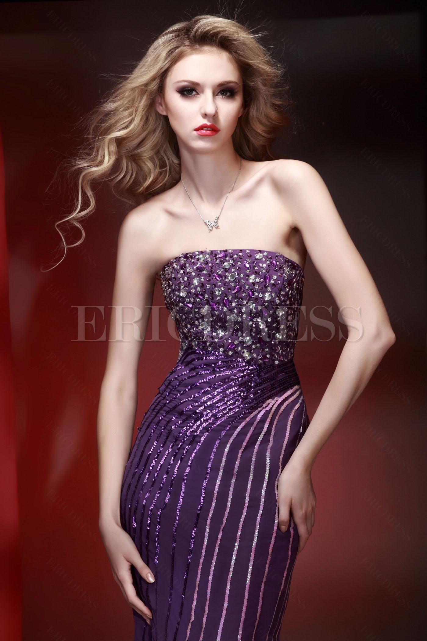 Brilliant Mermaid Floor-Length Court Train Evening Pageant Dress