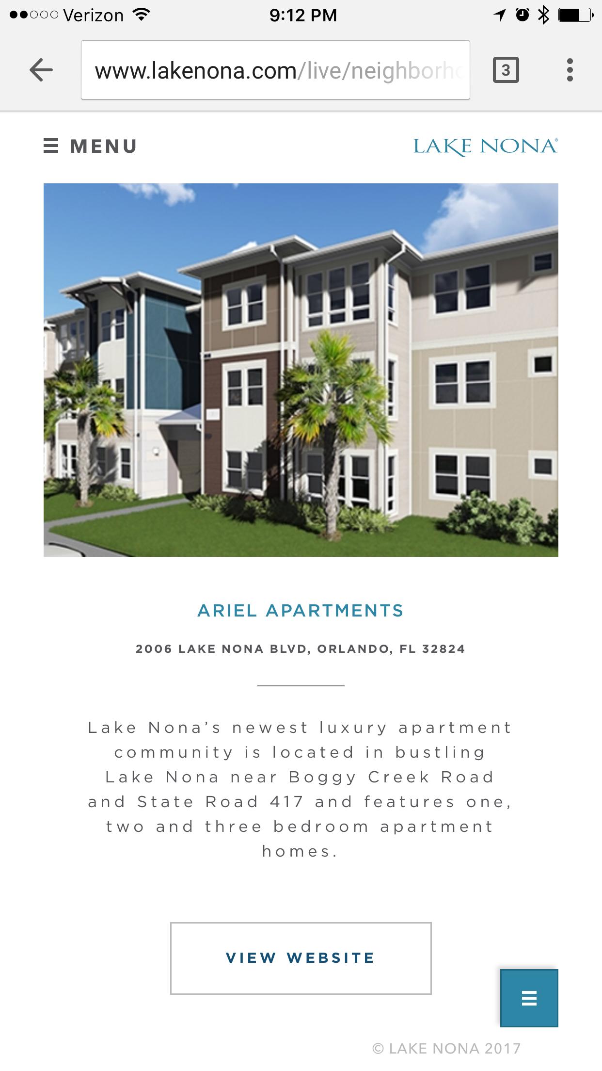 Ariel Apartments brand new apartments in Lake Nona Orlando FL