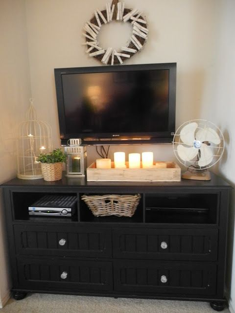 Diy Dresser Redo Bedroom Tv Stand Dresser With Tv Dresser Tv Stand