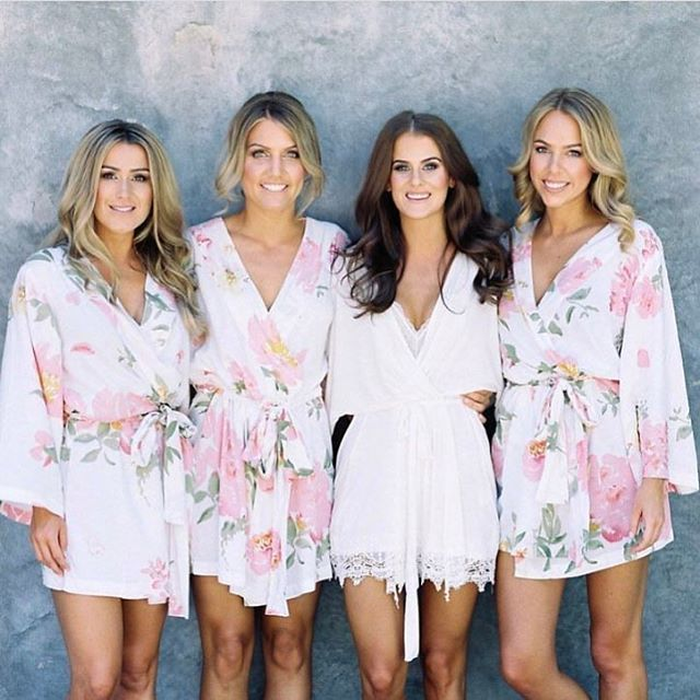 50b7d60338 bridesmaid robes, bridal robes, bridesmaid gifts, lace bridal robes, robe,  pretty robes, floral robes, wedding party robes, wedding party robes