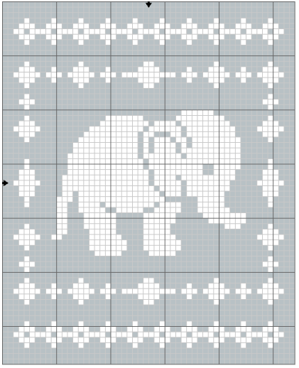 Photo of Filet Elephant Blanket Crochet Pattern – The Lavender Chair
