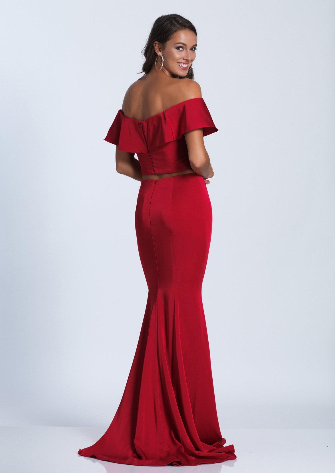 dbf9d2a5b3ce DJ 3416 - Two-Piece Ruffle Off the Shoulder Jersey Mermaid with ...