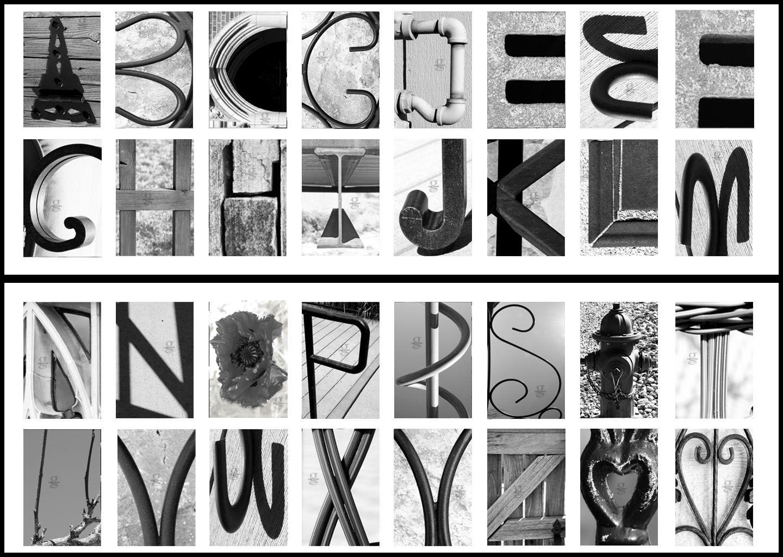 Review Classic Black Amp White Alphabet Photography