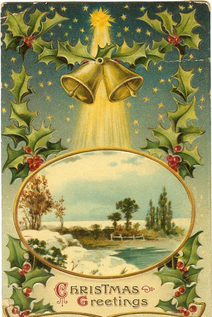 old christmas postcards | Lark & Lola: Old Christmas Postcards - Free to download!