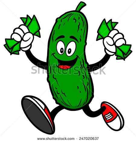 Pickle With Money Pickles Royalty Free Pickels