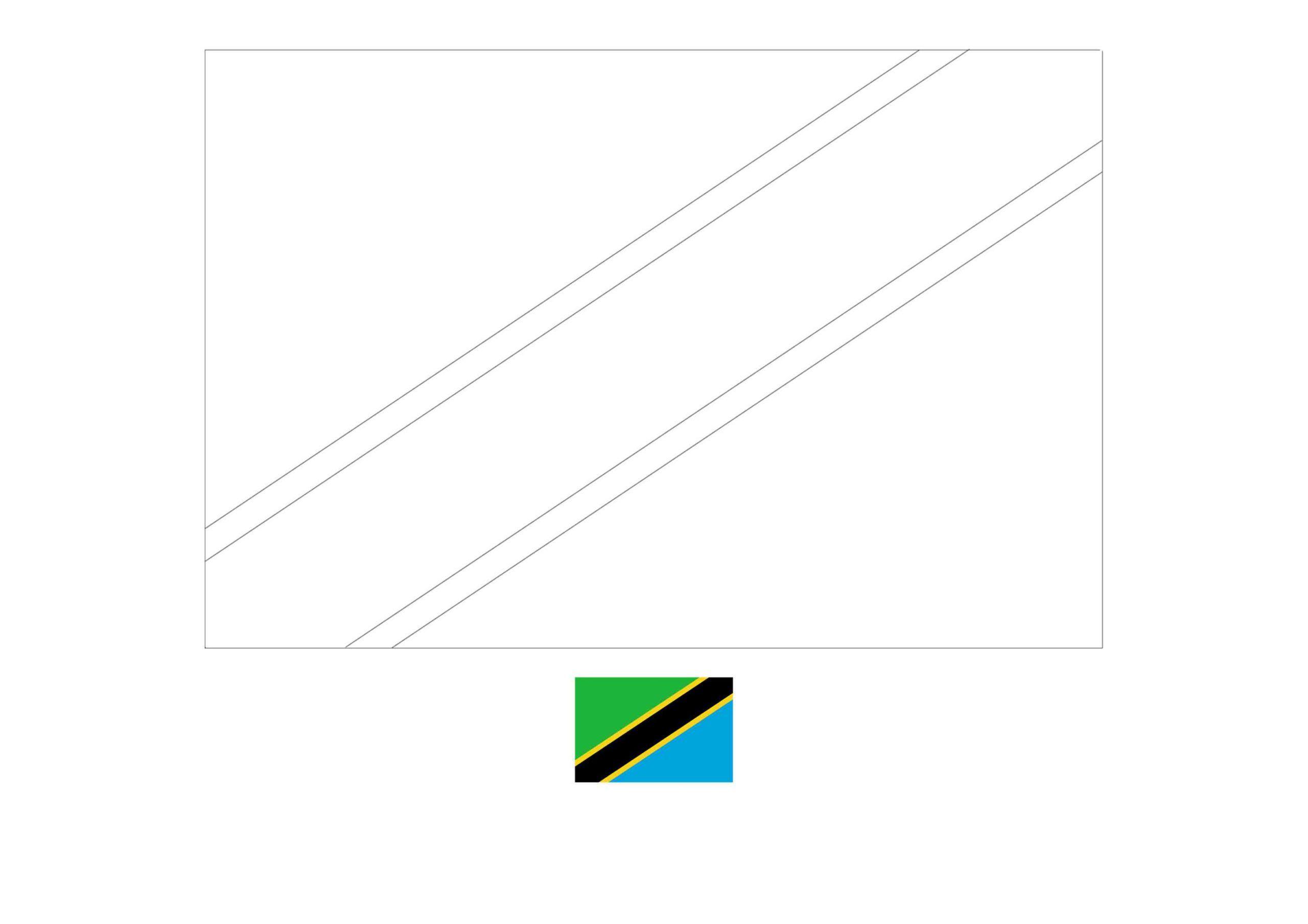 Flag Of Tanzania Coloring Page Free Coloring Sheets Coloring1