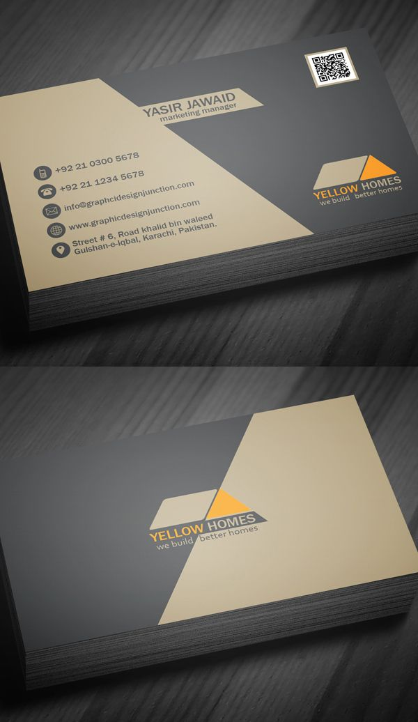 Real Estate Business Cards #businesscards | typography & graphic ...