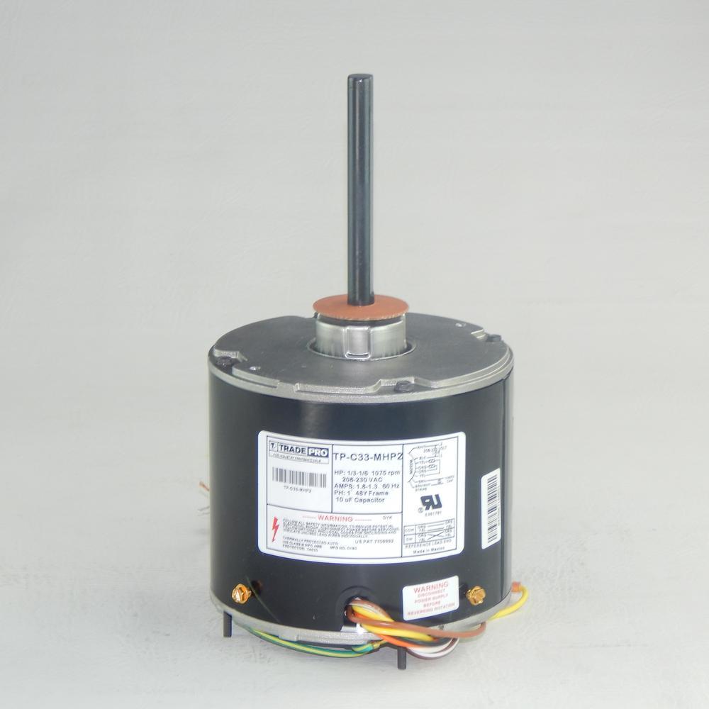 Replacement Condenser Fan Motor 1 3 Multi Horsepower 1075 Rpm 230 Volt Fan Motor Motor Condensation