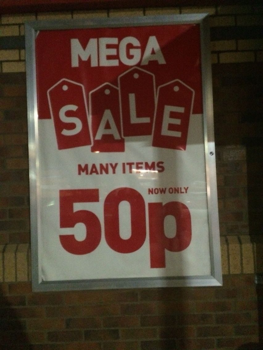 Saw this pound shop sale on my travels