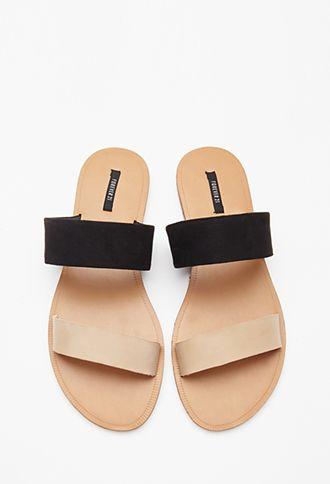 05b5c378da23 Faux Leather Slides
