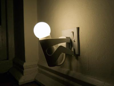 Interesting Lamps Made From Stainless Steel The Playful Lamp Hold On To Plug Point