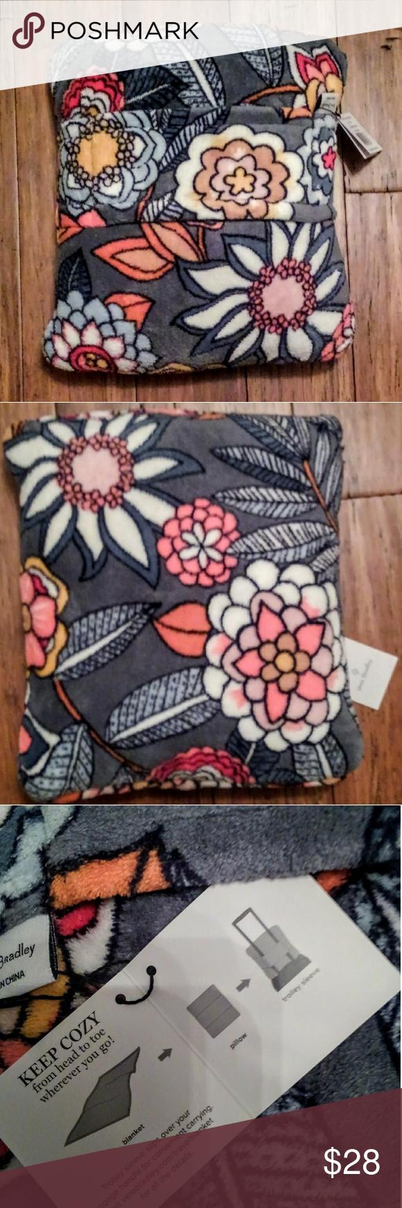 VERA BRADLEY TRAVEL Blanket Pillow