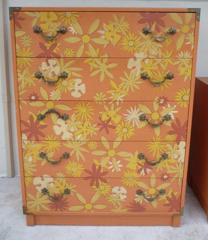 1970s Drexel Whimsy campaign style bedroom dressers