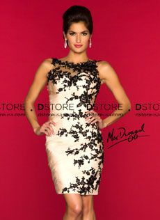 Vestido de Festa Curto Plissado com Renda Sakura 61412 : Dstore Miami, Vestidos de Festa Importados