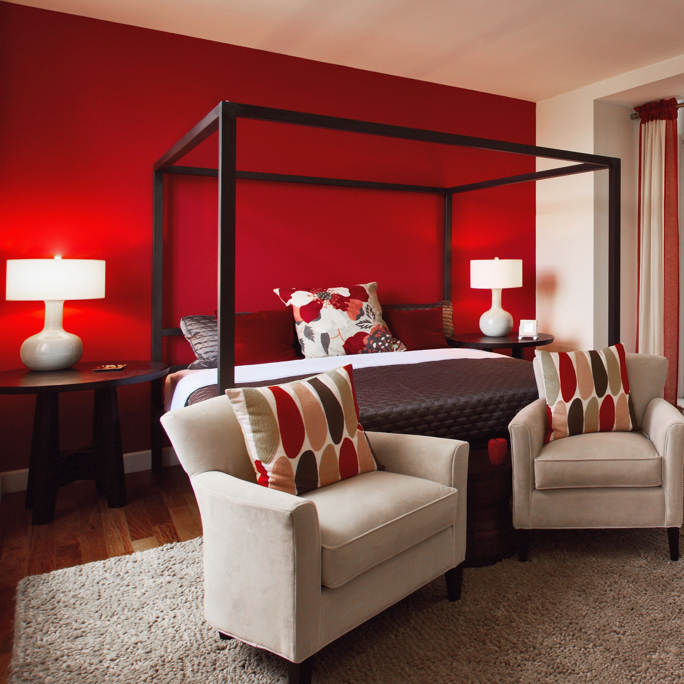 peinture mat lessivable rouge chambre tendance d co peinture mat lessivable pinterest. Black Bedroom Furniture Sets. Home Design Ideas
