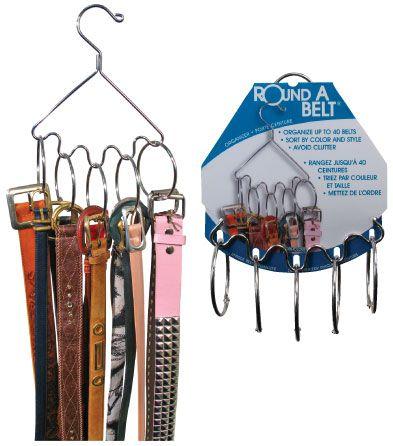 Belt organizer ... i think i could DIY this