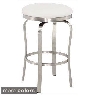 Strange Somette Modern Backless Upholstered Stainless Steel 26 Inch Machost Co Dining Chair Design Ideas Machostcouk