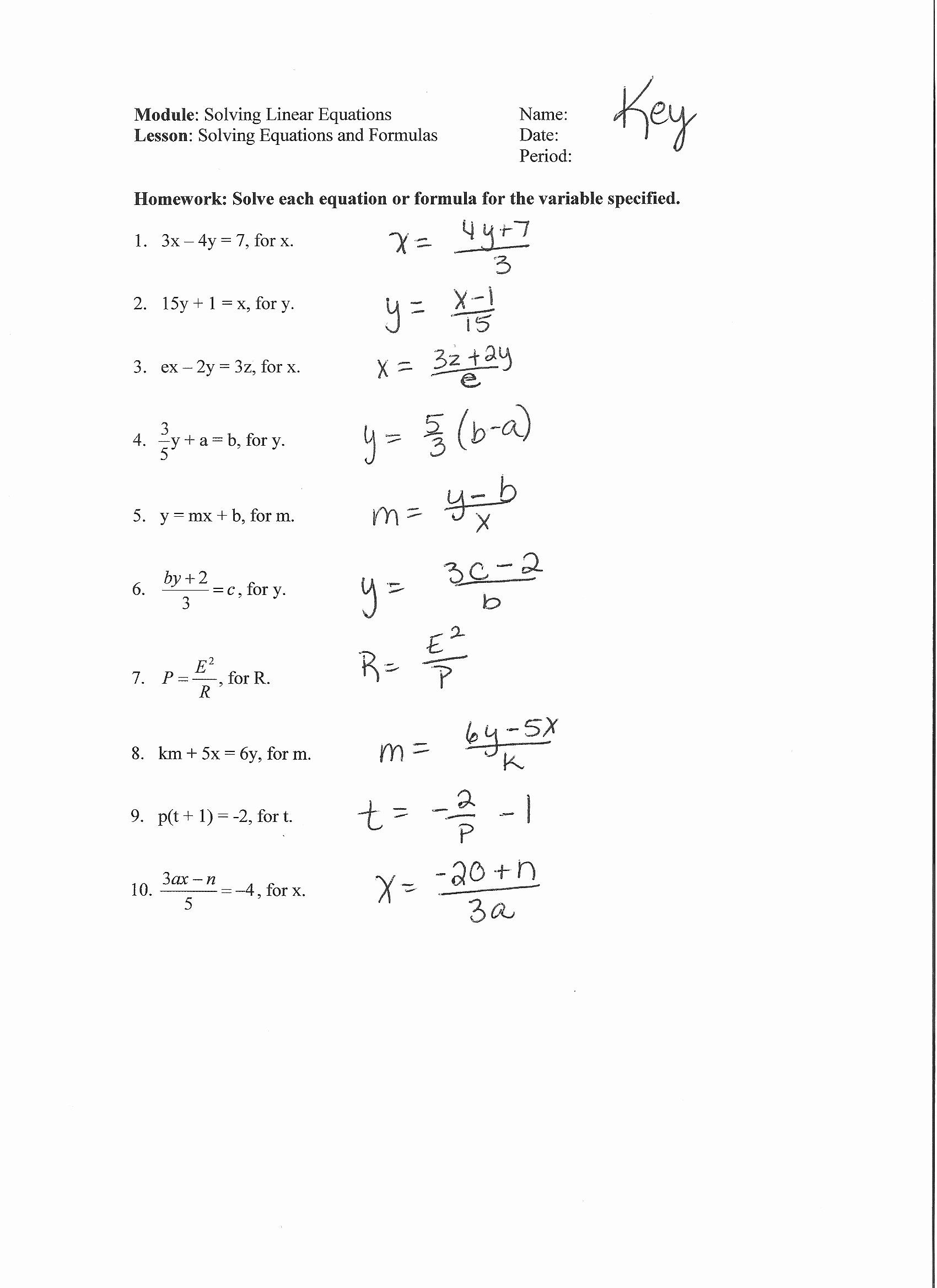 hight resolution of 9th Grade Algebra 1 Systems Of Linear Equations Worksheets With Answers    Printable Worksheets and Activities for Teachers